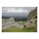Haytor. Rocks in Devon England. Personalized Announcement