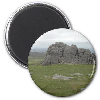 Haytor. Rocks in Devon England. Refrigerator Magnet