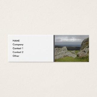 Haytor. Rocks in Devon England. Mini Business Card
