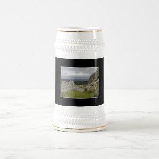 Haytor. Rocks in Devon England. 18 Oz Beer Stein