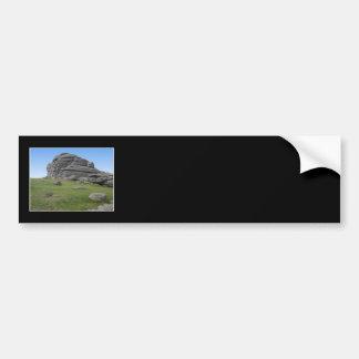 Haytor. Rocks in Devon England. On Black. Bumper Stickers