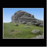Haytor. Rocks in Devon England. On Black. Cut Out