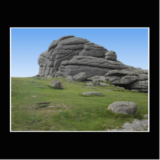 Haytor. Rocks in Devon England. On Black. Statuette