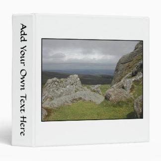 Haytor. Rocks in Devon England. On White. Binder