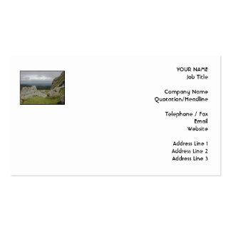 Haytor. Rocks in Devon England. On White. Business Card Template