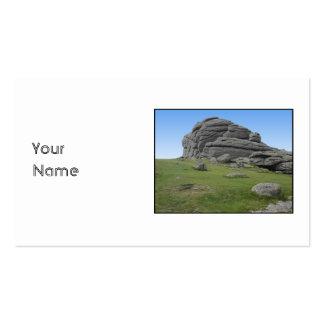 Haytor. Rocks in Devon England. On White. Business Cards