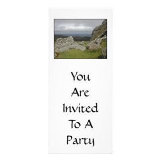 Haytor. Rocks in Devon England. On White. Personalized Invites