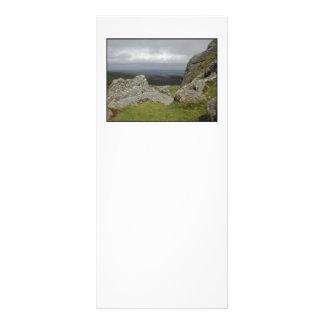 Haytor. Rocks in Devon England. On White. Customized Rack Card