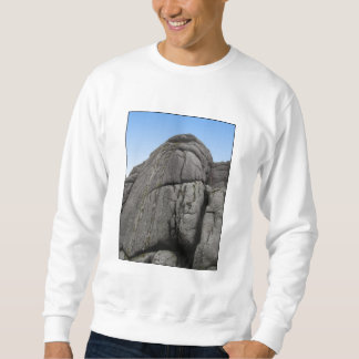 Haytor. Rocks in Devon England. On White. Sweatshirt