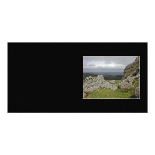 Haytor. Rocks in Devon England. Photo Card