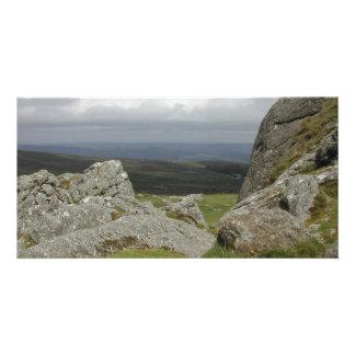 Haytor. Rocks in Devon England. Personalized Photo Card
