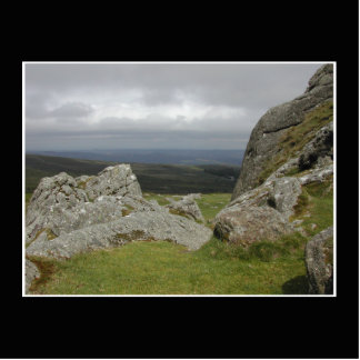 Haytor. Rocks in Devon England. Statuette