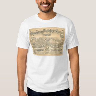 Hayward, CA. Panoramic Map (0696A) Tee Shirt