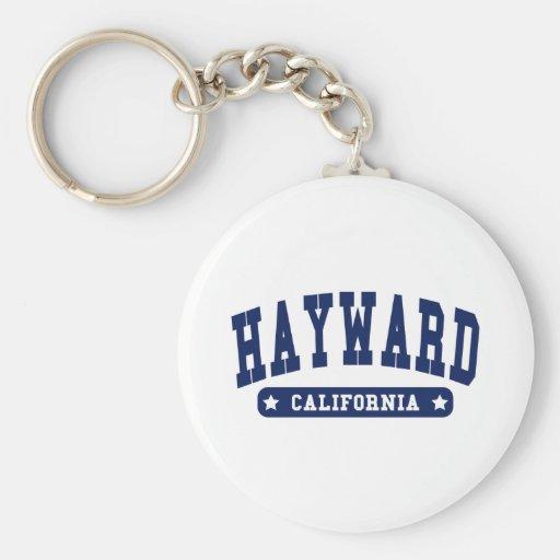Hayward California College Style tee shirts Key Chains