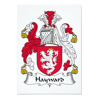 Hayward Family Crest 5x7 Paper Invitation Card