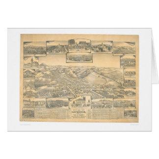 Hayward, mapa panorámico del CA (0696A) Tarjetón