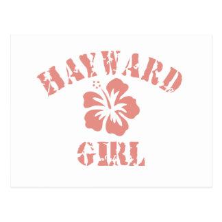 Hayward Pink Girl Postcard