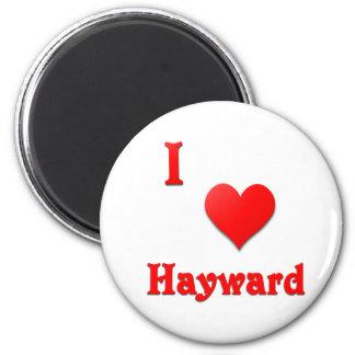 Hayward -- Red Fridge Magnet