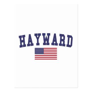 Hayward US Flag Postcard
