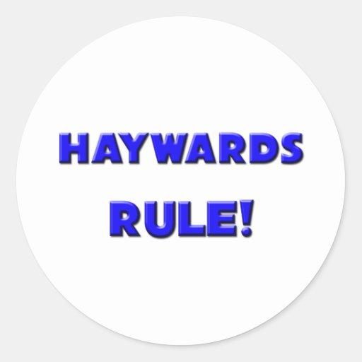 Haywards Rule! Classic Round Sticker