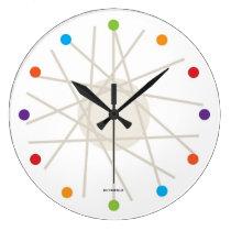 haywire multi-color mid-century clock