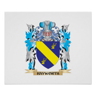 Hayworth Coat of Arms - Family Crest Posters