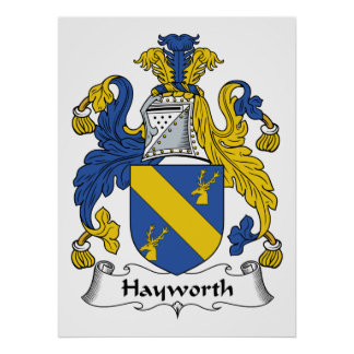 Hayworth Family Crest Posters