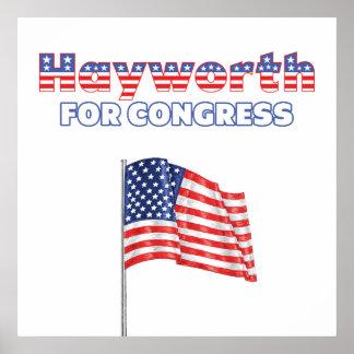 Hayworth for Congress Patriotic American Flag Poster