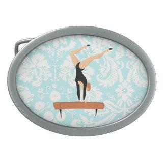 Haz de balanza de la gimnasia hebillas de cinturón ovales