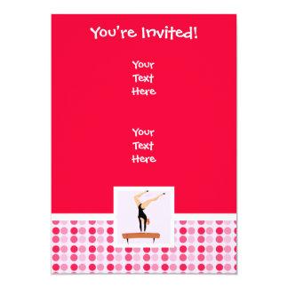 Haz de balanza lindo de la gimnasia invitación 12,7 x 17,8 cm