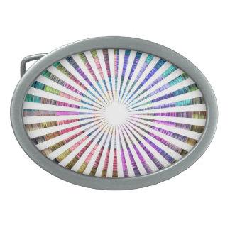 Haz de la chispa de la fuente de luz hebillas de cinturón ovales