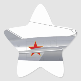 Haz de leña del Mig 15 Pegatina En Forma De Estrella
