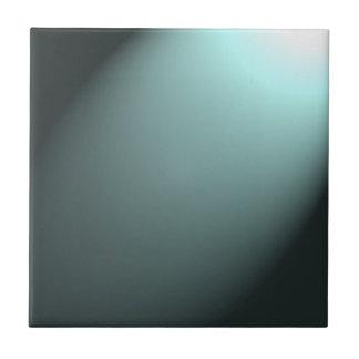 Haz luminoso en azules turquesas profundas azulejo cuadrado pequeño