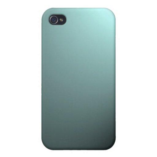 Haz luminoso en azules turquesas profundas iPhone 4/4S funda