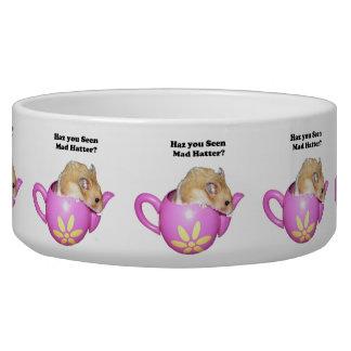 Haz You Seen Mad Hatter Dormouse Hamster Photo Dog Bowls