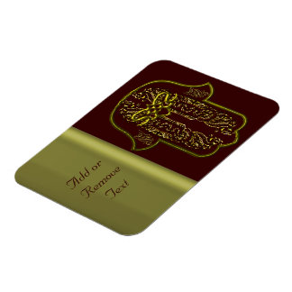 Hazaña de la mano de Hamsa: Corazón (de oro) Imanes De Vinilo