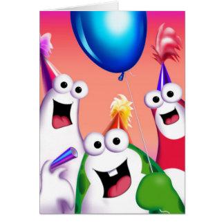 Hazaña de Oog y de Gooomy™. Tarjeta de cumpleaños