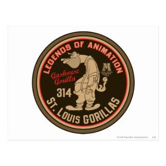 Hazaña del logotipo de los gorilas de Gashouse. Postal