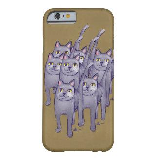 Hazaña feliz de los gatos funda de iPhone 6 barely there