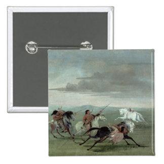 Hazañas del Comanche de la equitación marcial, 183 Pin Cuadrado
