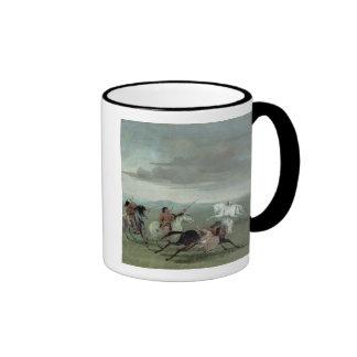 Hazañas del Comanche de la equitación marcial, Taza De Dos Colores