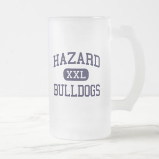Hazard - Bulldogs - High School - Hazard Kentucky 16 Oz Frosted Glass Beer Mug