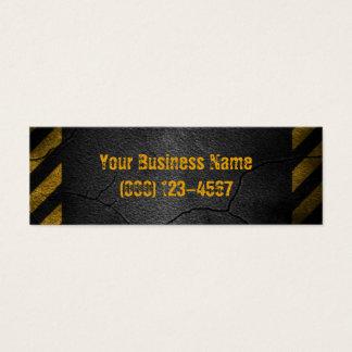 Hazard Lines Yellow Construction Business Card