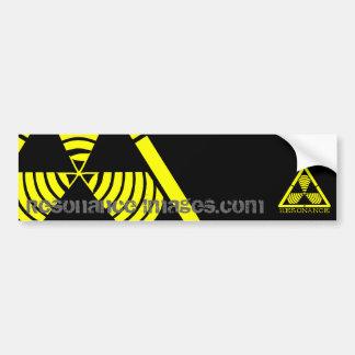 Hazard Logo Resonance Images Bumper Sticker