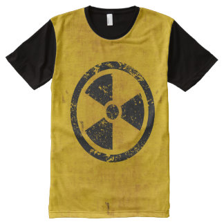 Hazard Radiation Warning All-Over-Print T-Shirt