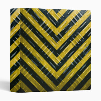 Hazard Stripe Diamond Plate Textured 3 Ring Binder