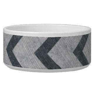 Hazard Stripe Metal Bowl