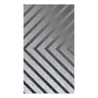 Hazard Stripe Metal Business Card Template