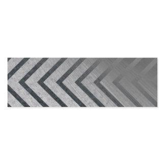 Hazard Stripe Metal Business Card