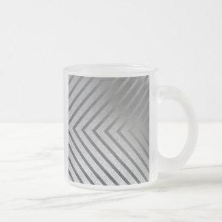 Hazard Stripe Metal Frosted Glass Coffee Mug